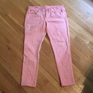 JCrew toothpick pink jeans